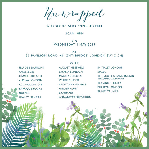 Unwrapped: Private Luxury Shopping Event in Knightsbridge, Wednesday, 1 May 2019
