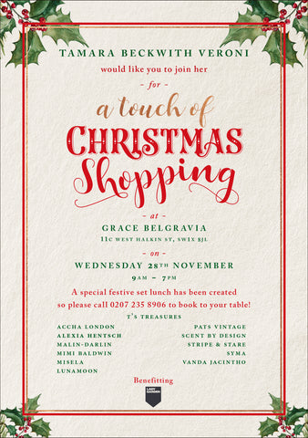 Tamara Beckwith's Touch of Christmas This Wednesday