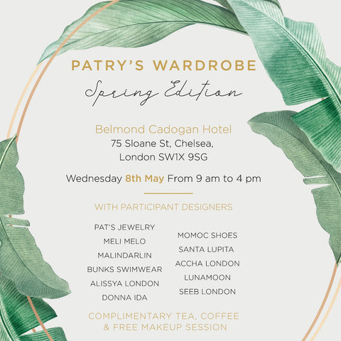 Shop at the Belmond Cadogan Hotel next Wednesday, 8th May