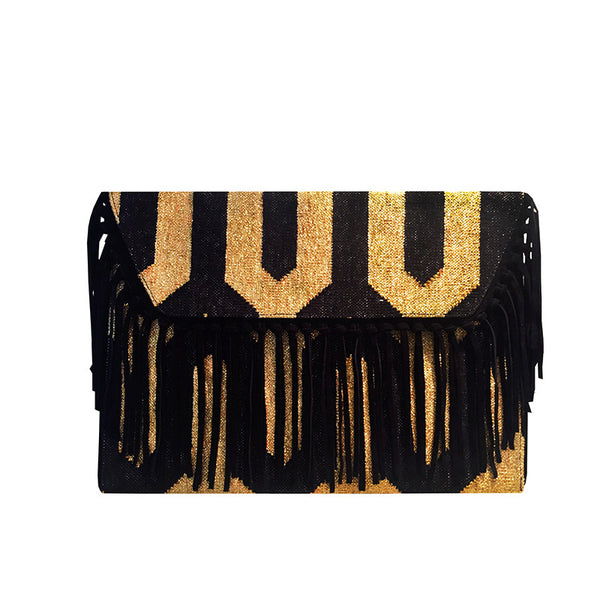 Black Label Dhurrie Clutches