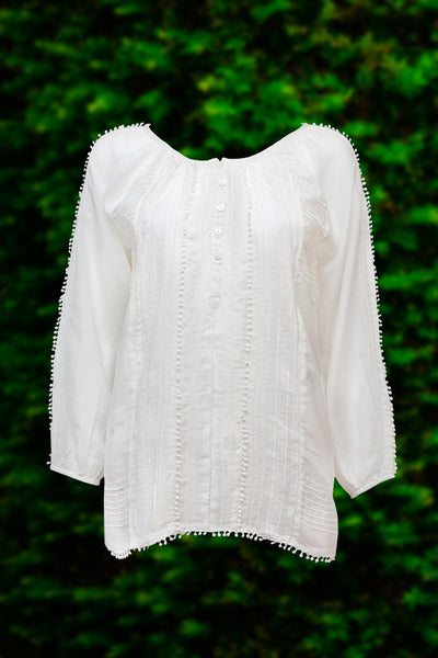 Cotton and Silk Frill Shirts