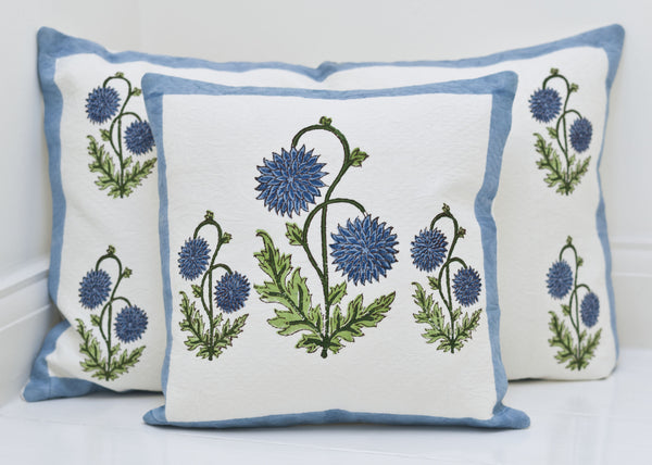 Block-Printed Cotton Jacquard Cushions