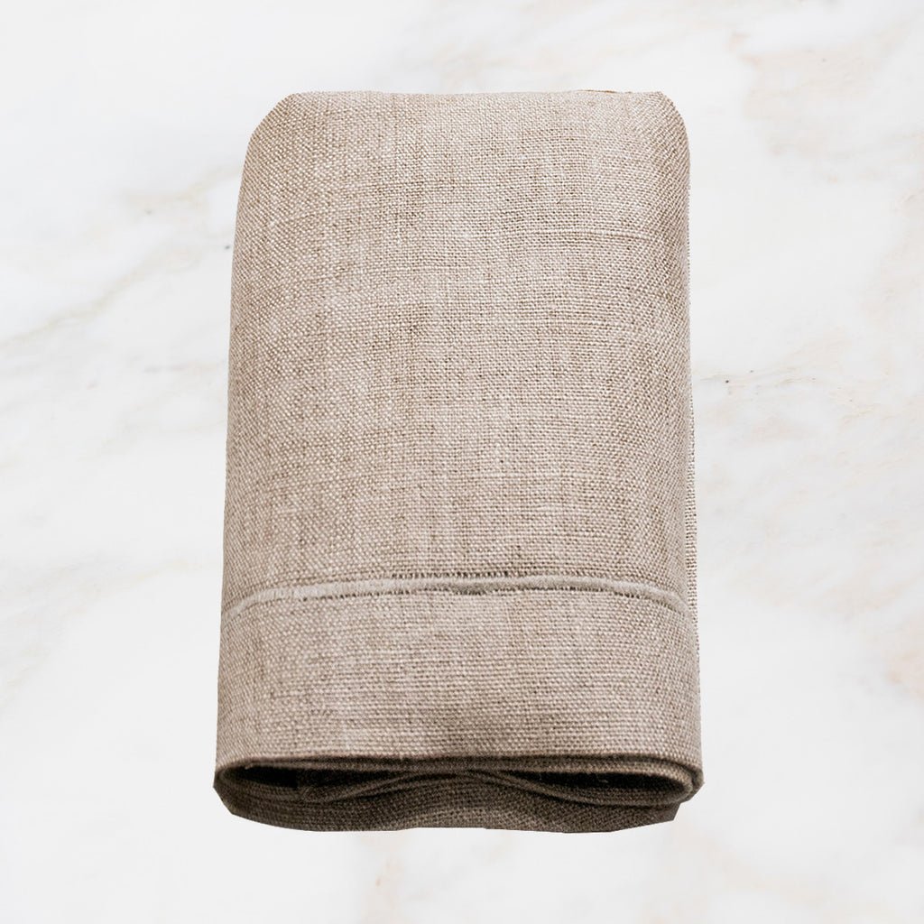 Set of Four Natural Linen Napkins