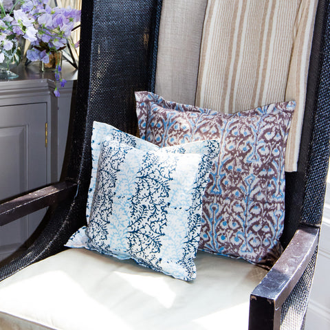 Dual Tone and Ikat Printed Linen Scatter Cushions