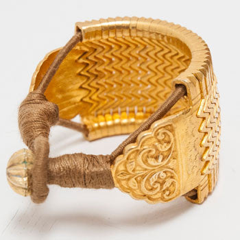 Chunky Gold-Plated Cuffs
