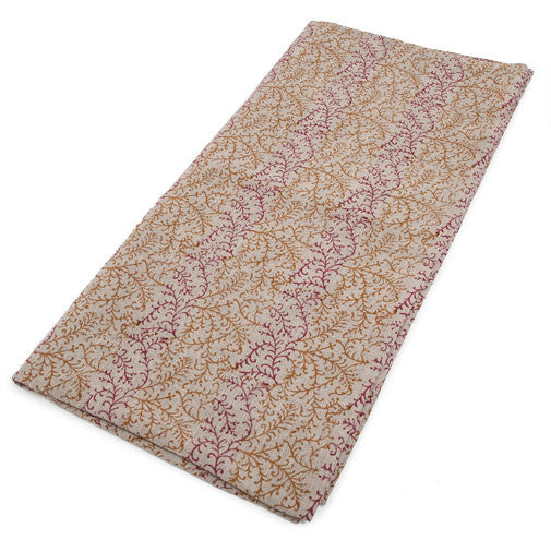 Dual Tone Coral Natural Linen Covers