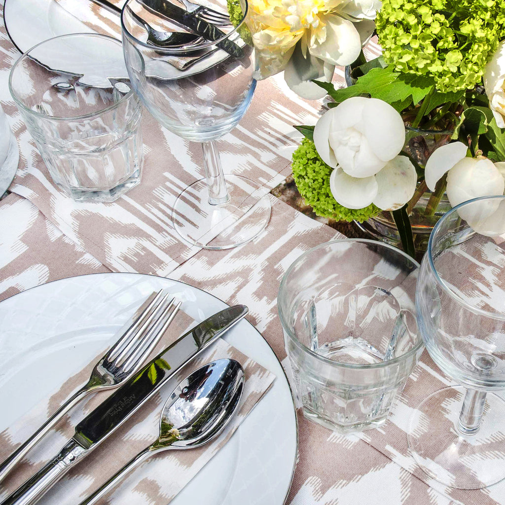 Ikat Printed Cotton Placemats with Napkins