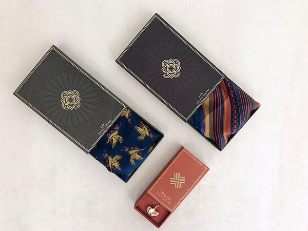 gift ideas for men, dad, brother, husband, father, boyfriend, friend , client , includes a set of 2 silk pocket square and premium lapel pin