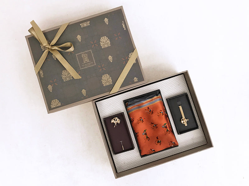 gifts for him - fashionable tools for men, tie pin , lapel pin gift set _ online gifts for him india
