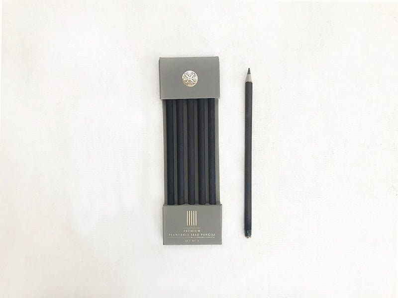 seed paper pencils black