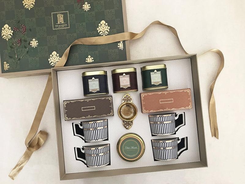 signature royal anthemion gift box _ online best gifting brand india _ luxury gifting _ tea hamper