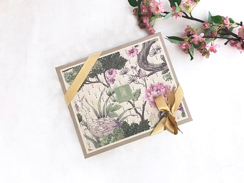A beautiful keepsake gift box with contemporary print.