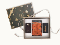 Sauve man gift box _ luxury gifts for men _ gifts for him _ silk pocket square, ginko lapel pin and anchor tie pin gift set