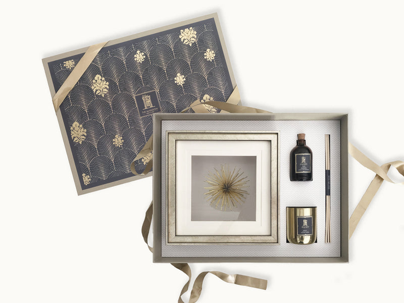 the modern home gift box _ real estate handover gifts _ gifts for couples _ gifts for family _ festive gifts _ wedding gifts _ reed diffuser gift box _ premium metal candle _ stunning wall decor