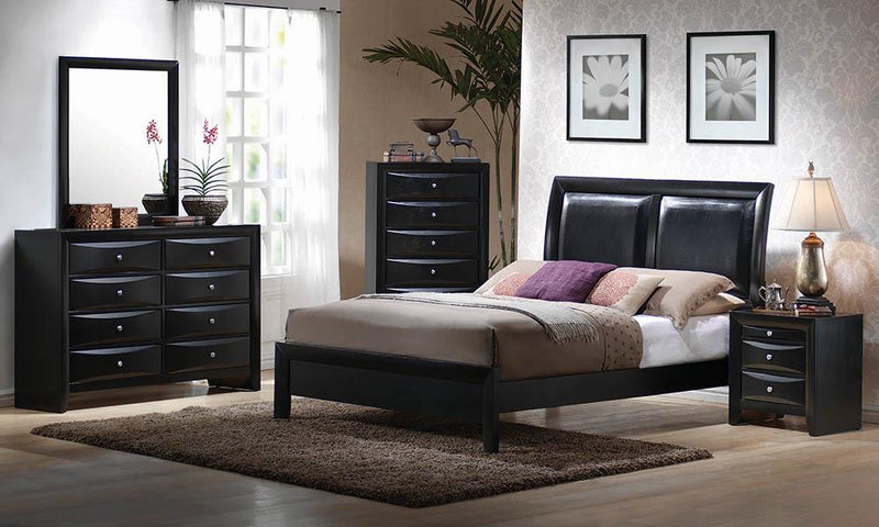 Briana Black Transitional King Bed image
