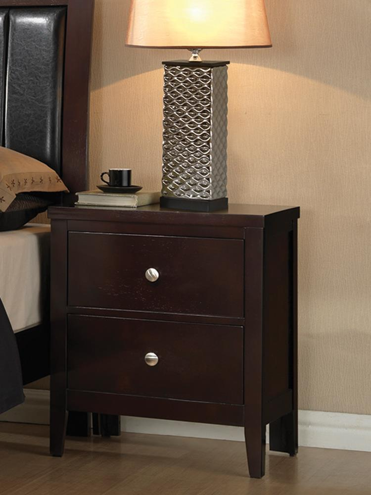 Carlton Cappuccino Two-Drawer Nightstand image