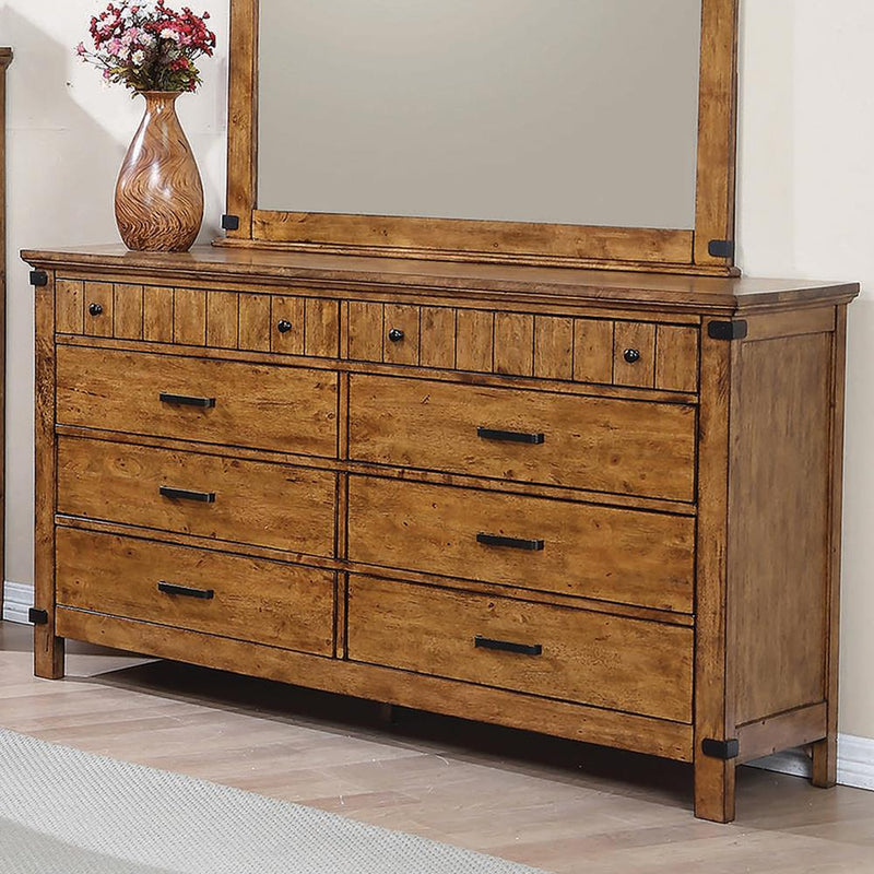 Brenner Rustic Honey Eight-Drawer Dresser image