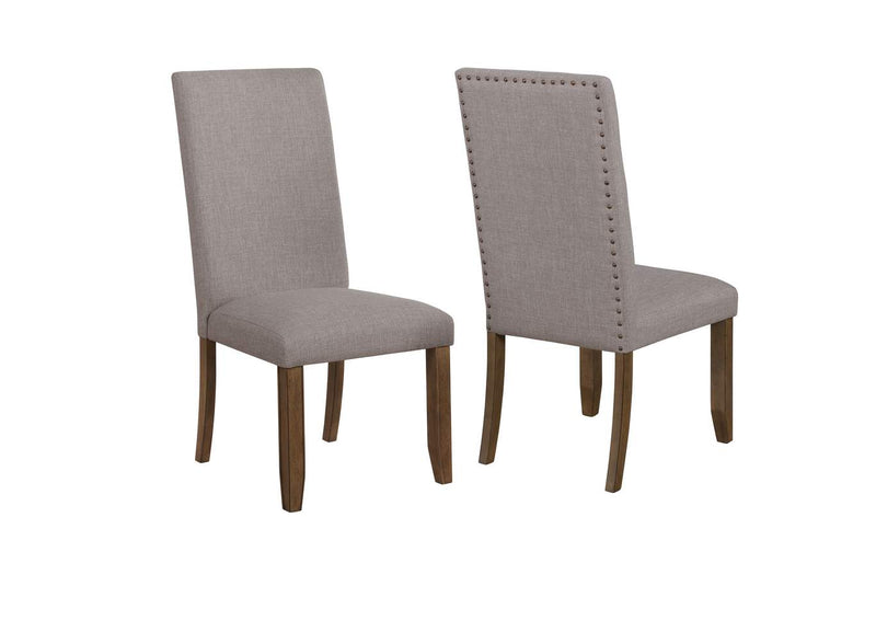 Crown Mark Manning Side Dining Chair in Brown/Grey 2231S-NH (Set of 2) image