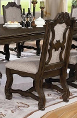 Crown Mark Neo Renaissance Side Chair in Brown 2420S (Set of 2) image
