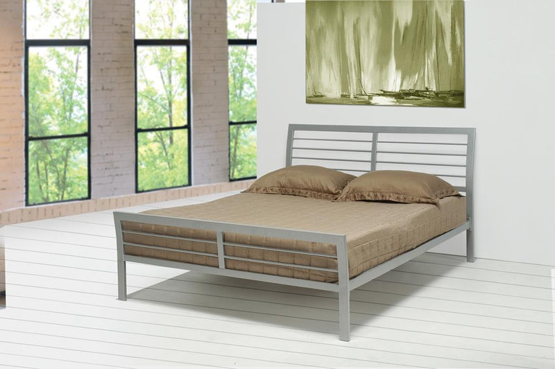 Cooper Contemporary Silver Metal Full Bed image