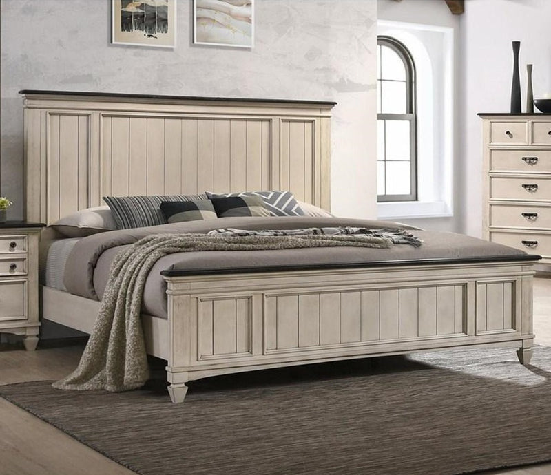 Crown Mark Sawyer Queen Panel Bed in Two-Toned image
