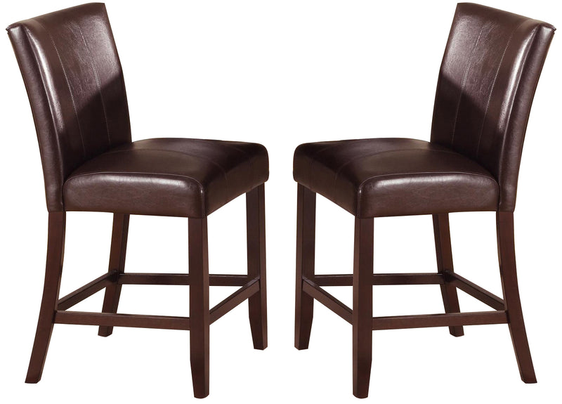 Crown Mark Ferrara Counter Height Chair in Dark Brown (Set of 2) 2723S-24 image