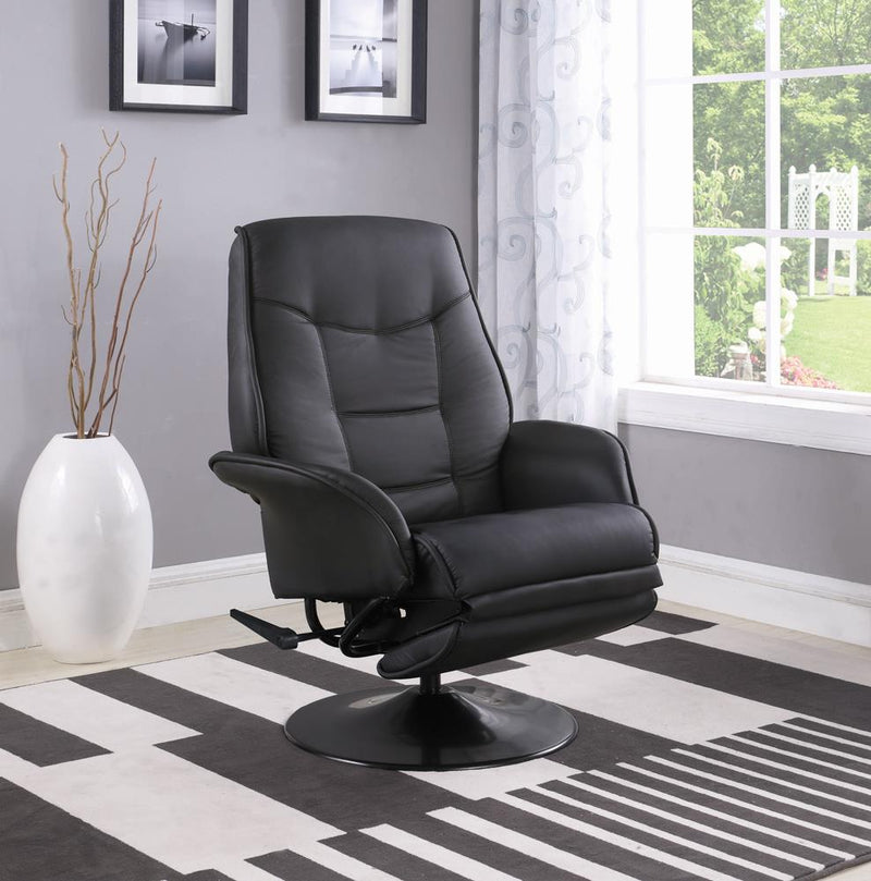 Berri Contemporary Black Swivel Recliner image