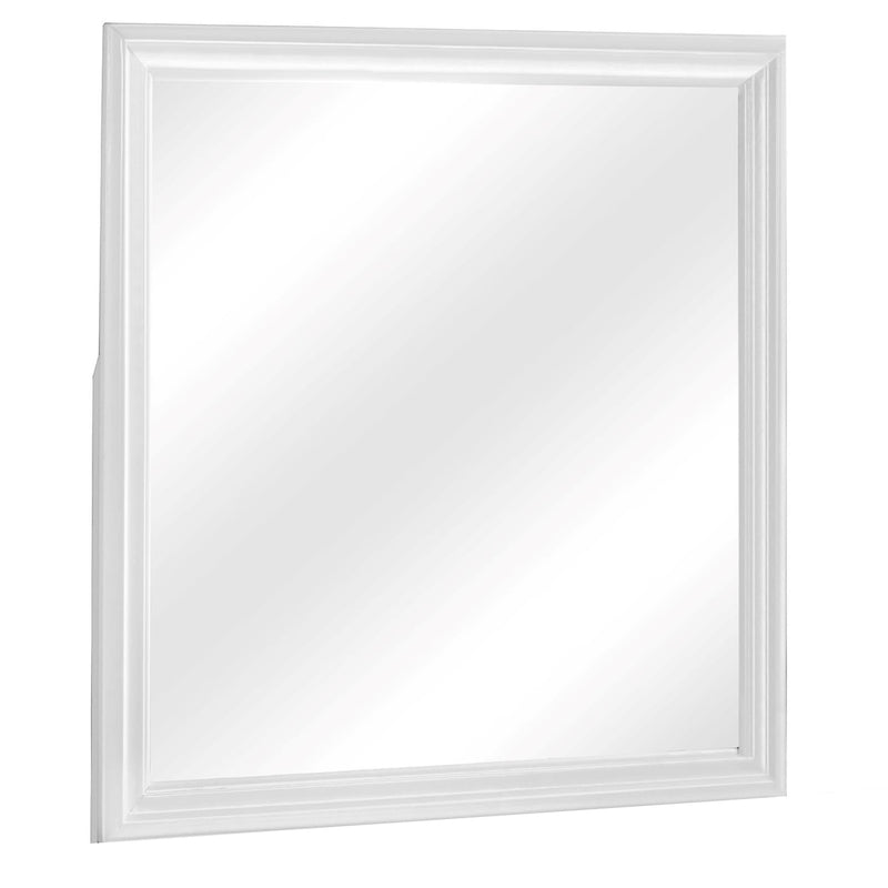 Crown Mark Louis Philip Mirror in White B3650-11 image