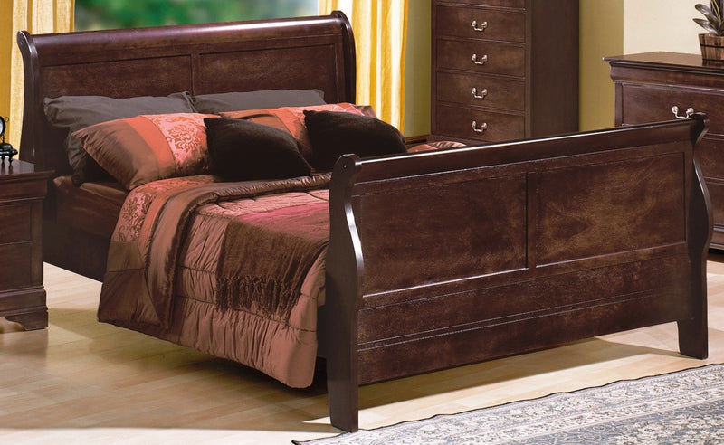 Crown Mark Furniture Louis Philip Twin Bed in Dark Cherry image