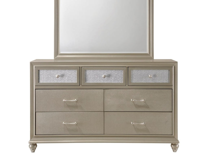 Crown Mark Furniture Lila Dresser in Champagne Faux B4390-1 image