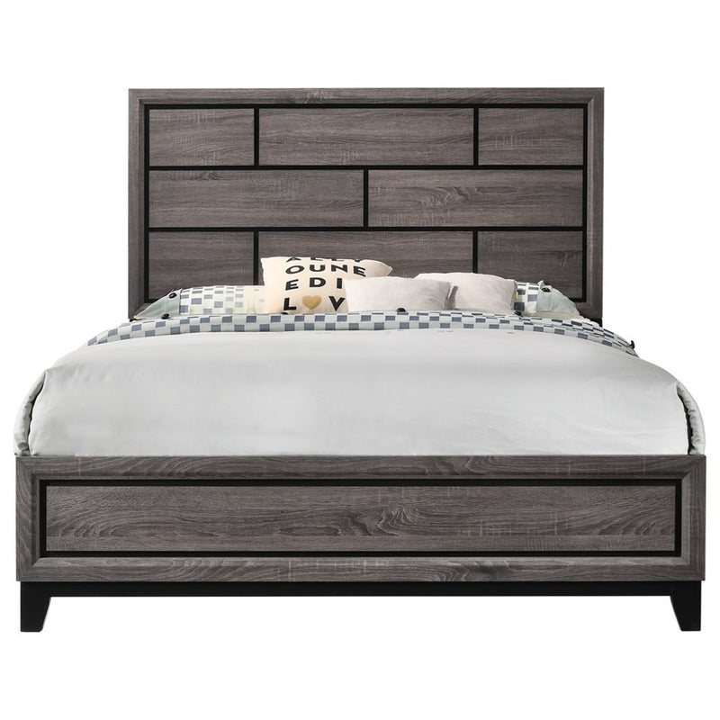 Crown Mark Akerson Queen Panel Bed in Grey image