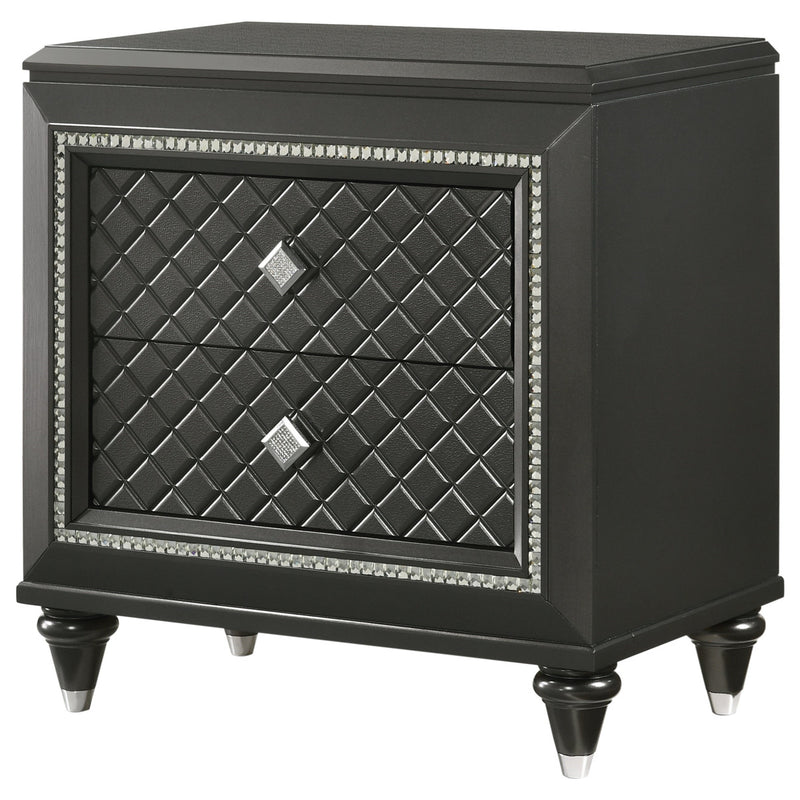 Crown Mark Giovani Nightstand in Dark Silver B7900-2 image