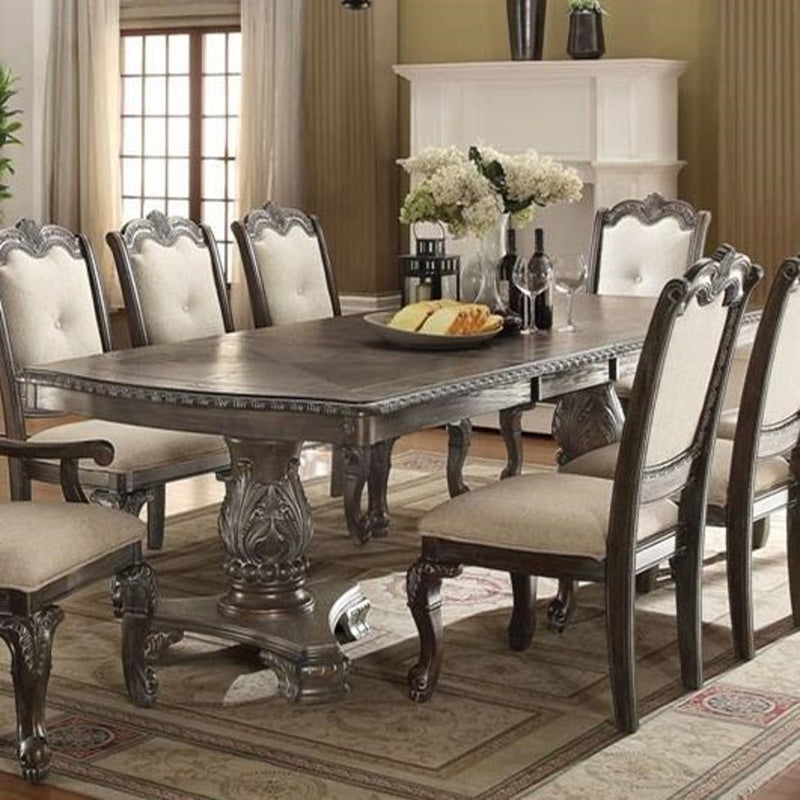 Crown Mark Kiera Dining Table in Grey 2151T-44108-TGY image