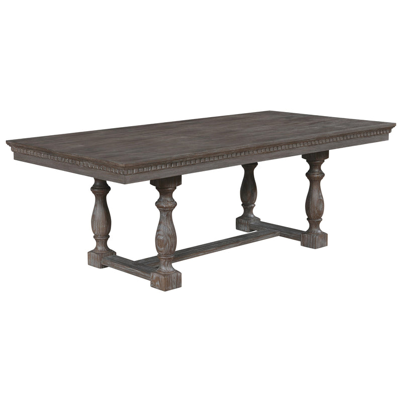 Crown Mark Regent Dining Table in Warm Brown image