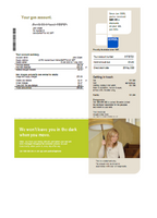 Australia AGL gas utility bill template in word format (customizing comprised)