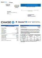 USA Chase bank credit card statement template in word format (includes free editing)
