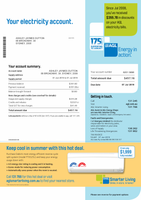 Australia AGL electricity utility bill template fully editable in PSD format (includes modification)