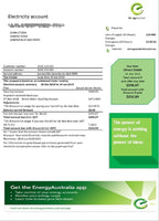 Australia Energy proof of address utility bill template in word format (customization included)