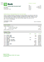 Canada TD Bank proof of address statement template in Word and PDF format (free modification)