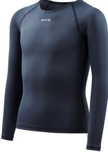 Load image into Gallery viewer, Youth Compression Long Sleeve Top Navy