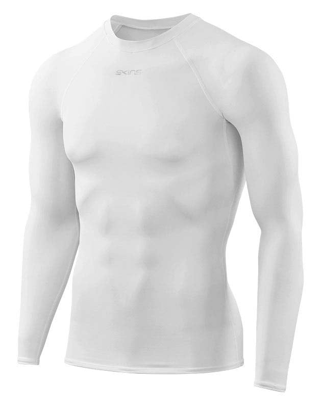 Men's Compression Long Sleeve Top White