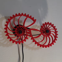 Nautilus Gears Kinetic Wall Art