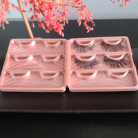 Eyelash Travel Case holds 6 pairs of false lashes