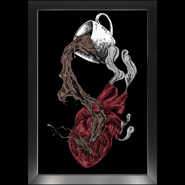 "Coffee Heart Professional Print ""Heartburn"""