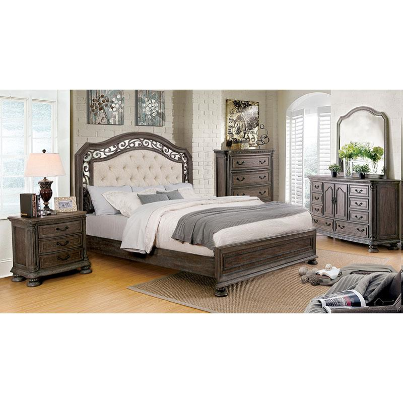 Persephone Beige/rustic Natural Tone King Bed