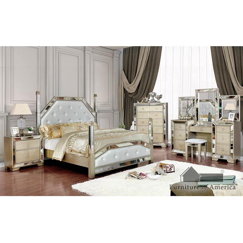 Loraine Champagne King Bed