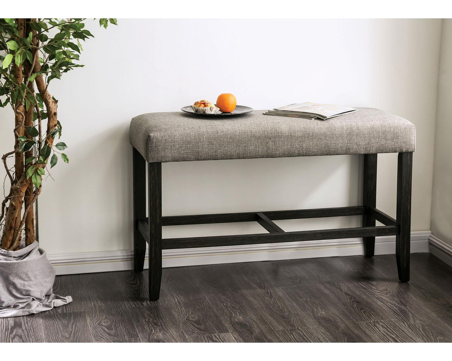 Brule Light Gray Bench