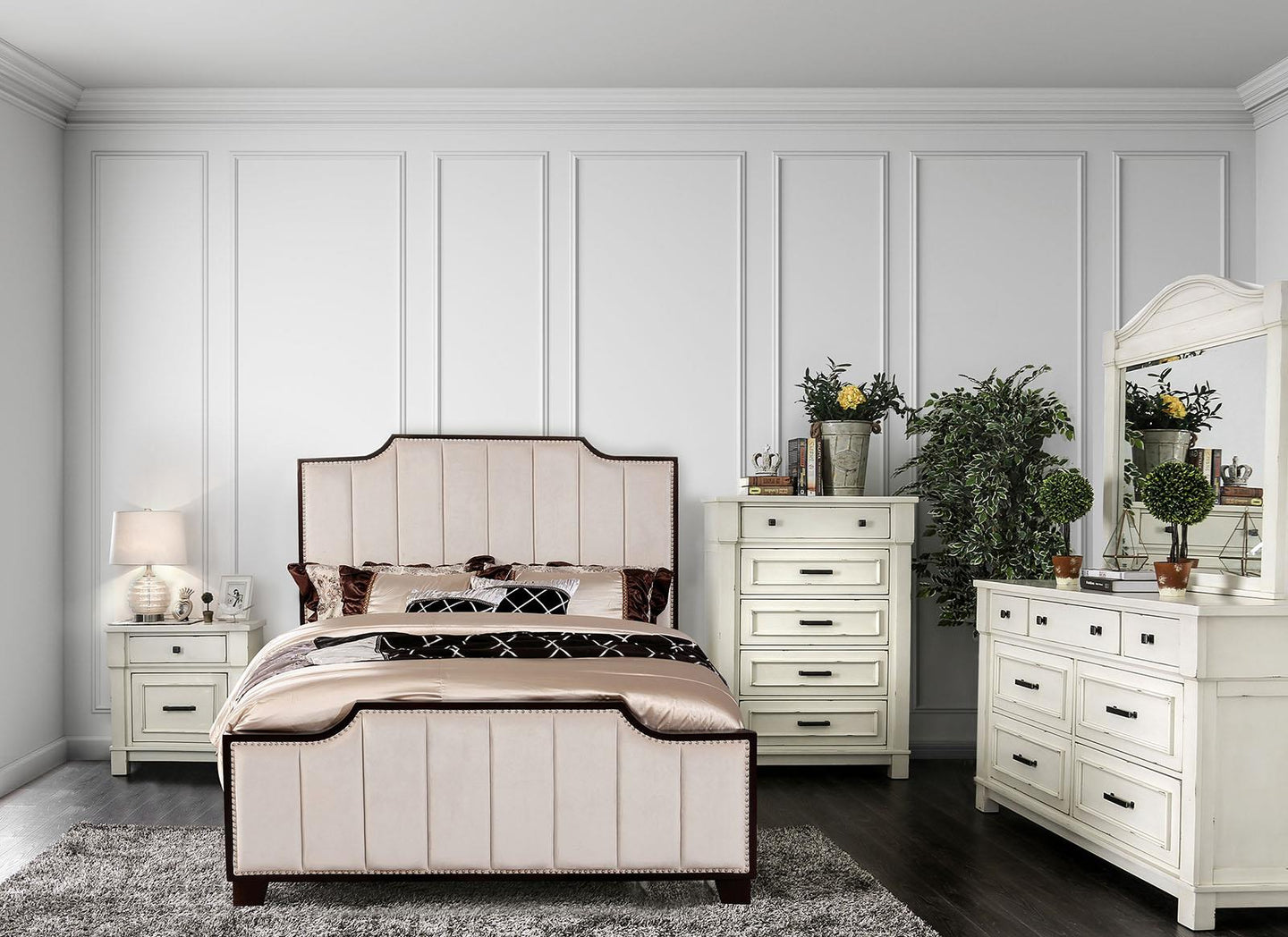Espin Beige King Bed