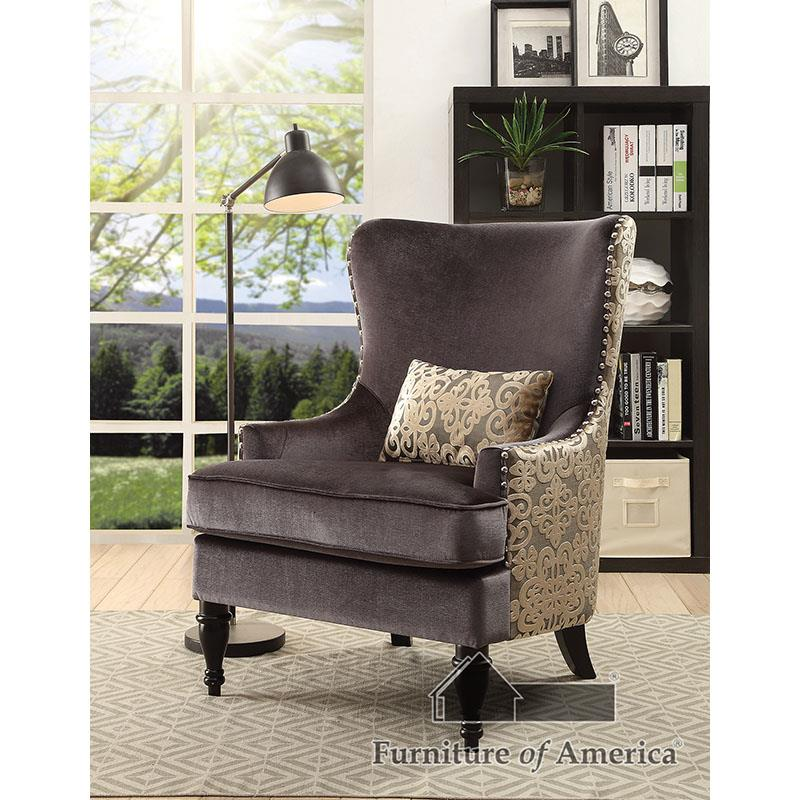 Sandra Dark Gray/gold Chair