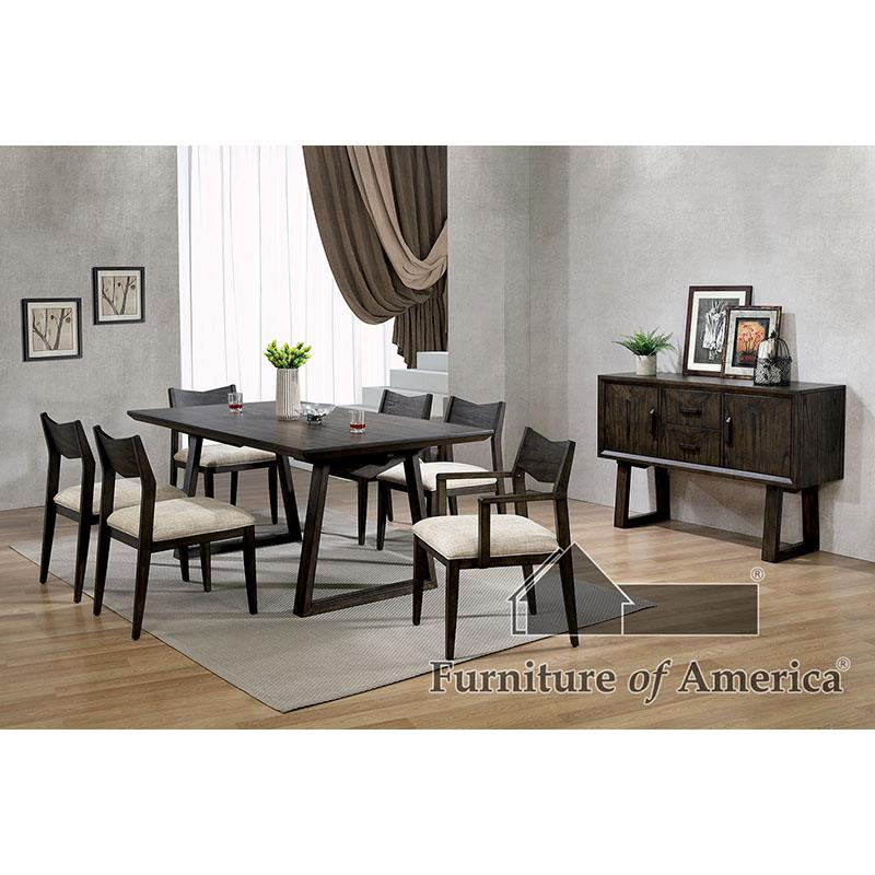 Meridian Dark Walnut 7 Pc Dining Set